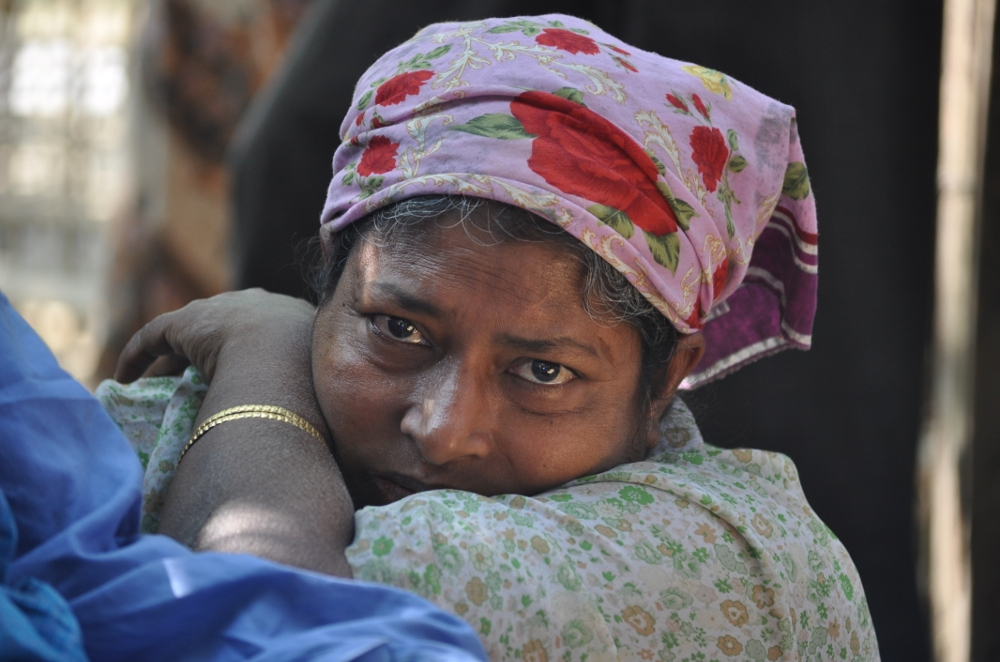Rohingya-Frau in einem Flüchtlingslager in Bangladesch. | United to End Genocide via Flickr